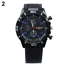 Men's Racer Military Pilot Aviator Army Style Cool Silicone Sports Wrist