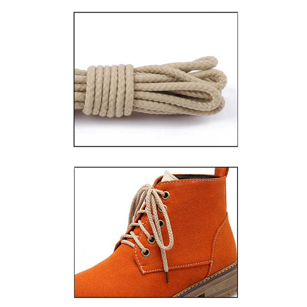 Ronda los cordones de los zapatos casuales zapatos de encaje Twist Round cordones azul marino 2019 nuevos hombres de la moda Simple genial Grey múltiples longitudes disponibles