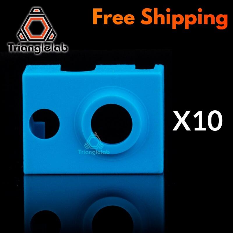 Trianglelab 10PCS High Quality Cartridge Heater Bock Silicone Socks V6 Socks For PT100 Heated Block For V6 PT100 Hotend Nozzle