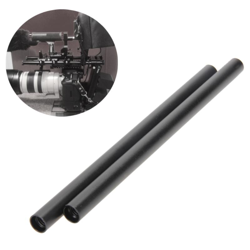 Camera Accessory 2 PCS Diameter 15mm Length 300mm Aluminum Alloy Rods for 15mm Rod Rail Support System