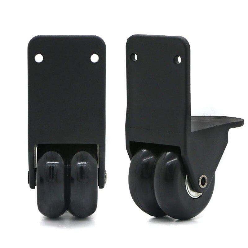 1 Pair Travel Luggage Wheels DIY Replacement External Suitcase Wheel Black Durable Repair Travel Trolley Suitcase Wheels D026