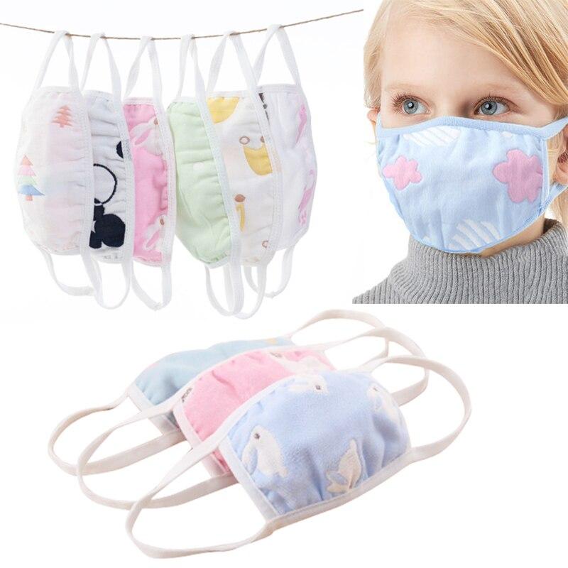 Fashion Hot Cartoon Dust Mask Creative Black White Windproof Soft And Comfortable Non-fluorescent Health Anti-flu Cotton Mask