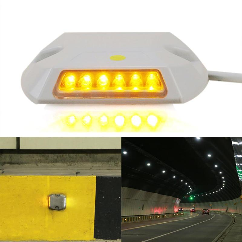IP67 12LED 0.36W Powered Tunnel Guidance Light LED Wall Mount Maker Lamp Plastic Engineering Safety Road Safety Road Stud Light