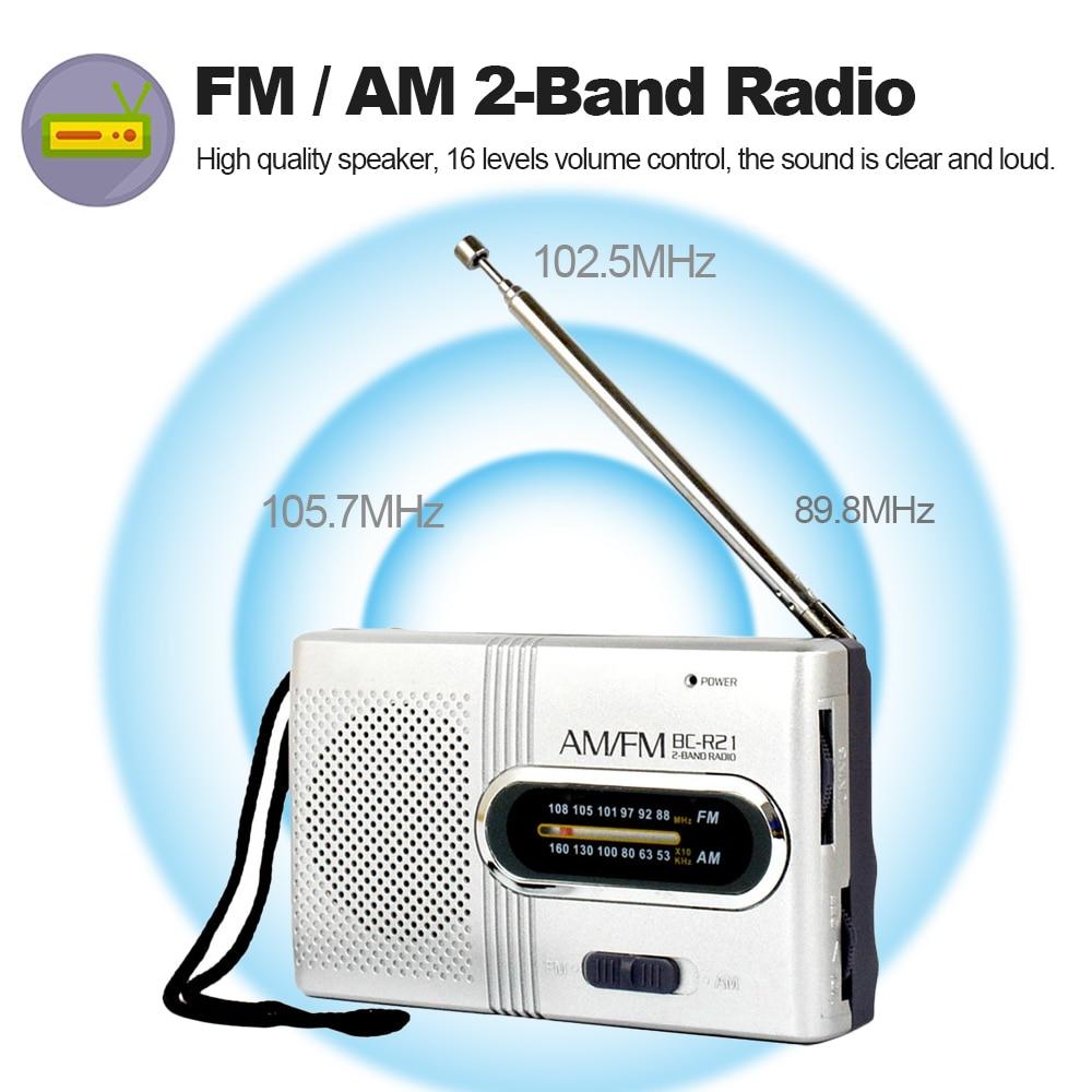 Unterhaltungselektronik Radio Bc-r21 Am/fm Dual Band Radio Mini Tragbare Audio Empfänger Outdoor Tasche Lautsprecher Mit Teleskop Antenne Lanyard 3,5mm Jack Port