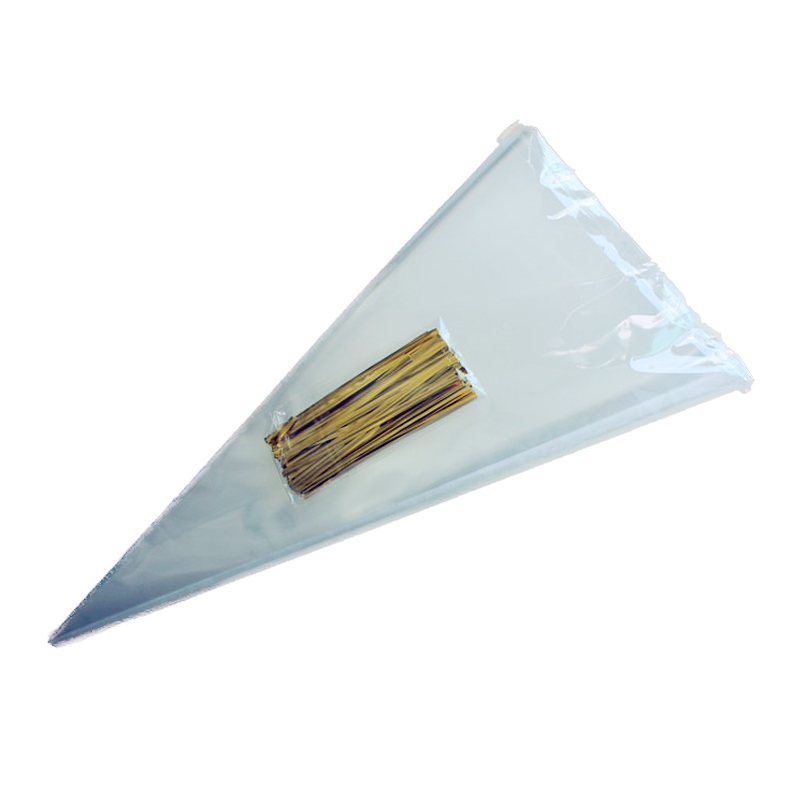 Packing-Bag Pouches-Decor Cone Cellophane Clear Wedding 50pcs Organza DIY title=