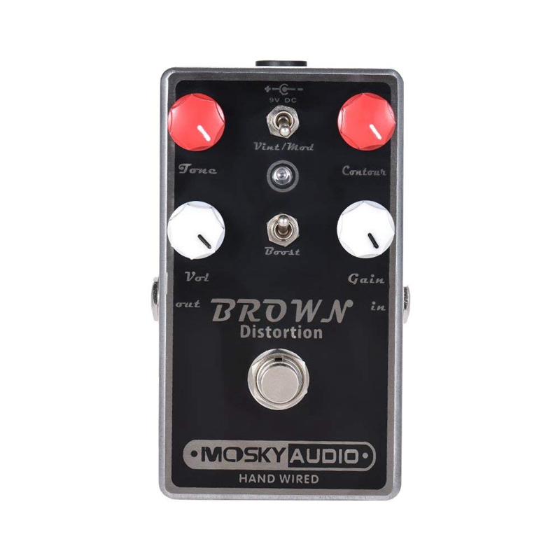 ABGZ-MOSKY BROWN Distortion Guitar Effect Pedal Full Metal Shell True BypassABGZ-MOSKY BROWN Distortion Guitar Effect Pedal Full Metal Shell True Bypass