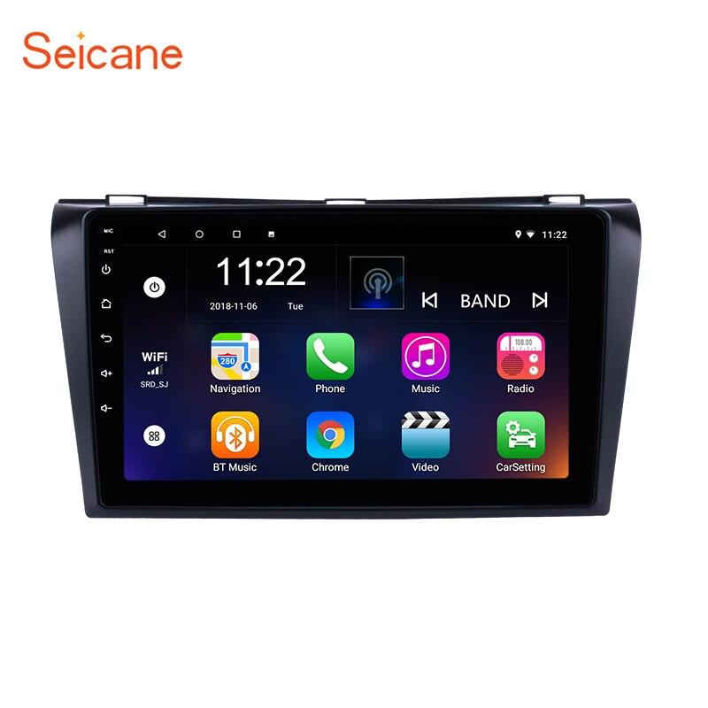 Seicane 9 pouces Android 7.1/8.1 GPS Navigation de la Voiture Radio pour 2004-2009 Mazda 3 avec Bluetooth WIFI Miroir Lien OBD2