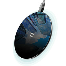 Ultra-thin 10W Qi Wireless Charger for iPhone X/XS Max XR 8 Plus Visible Element Charging pad Samsung S8 S9 Xiaomi