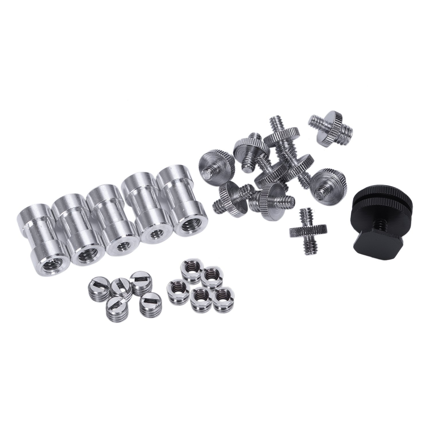 26 Pieces 1/4 Inch And 3/8 Inch Converter Female Male Threaded Screws Adapter Mount Set For Camera/Tripod/ Monopod/Ballhead/ L26 Pieces 1/4 Inch And 3/8 Inch Converter Female Male Threaded Screws Adapter Mount Set For Camera/Tripod/ Monopod/Ballhead/ L