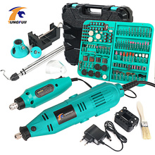 Tungfull Electric Drills Mini Drill Woodworking Drilling Machine Mini Polishing Machines Variable Speed Rotary Tools  110V/220V цена