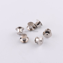 20pcs/lot Silver Color Alloy Pin Back Badge  Brooch Pin Locking Keepers  for DIY Handmade accessories zinc alloy artificial diamond crown pin brooch silver