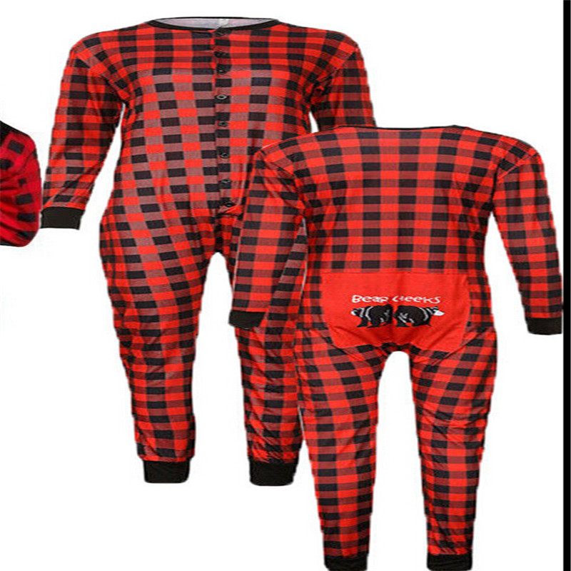 529c4698a0 Christmas Family Matching Pajamas Set Adult Women Men Kid Baby Red Plaid Sleepwear  Nightwear Parent child New Year s Pyjamas Set-in Matching Family Outfits ...