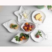 Dropshipping 주방 크리 에이 티브 Oceaon 세라믹 접시 작은 접시 조미료 요리 조미료 소스 식초 Sala 그릇 식기