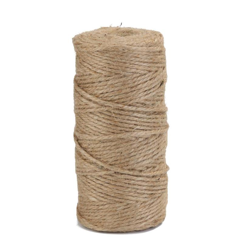 Home & Garden 1 Roll 60m Natural Jute Twine Burlap String Florists Woven Ropes Hemp Rope Wrapping Cords Thread Diy Scrapbooking Craft Decor Last Style