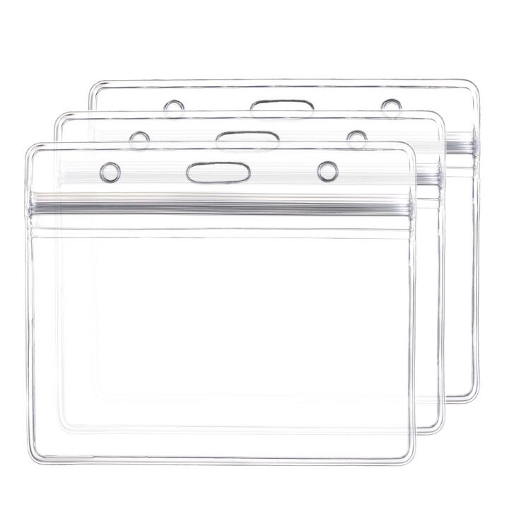 10Pcs/set Vertical Horizontal Transparent Plastic Clears ID Card Bag Case Badge Holder Accessories