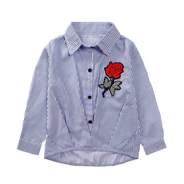 c7d1771d7cf5d0 T Shirt pour Fille Enfants robe de fleur broderie style de l'école ...