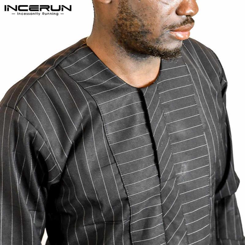 ... Fashion Robe Mens Shirts Dashiki Dress Long Sleeves Black Gown Striped T -shirt Kenya Nigeria ... 273d7acb0