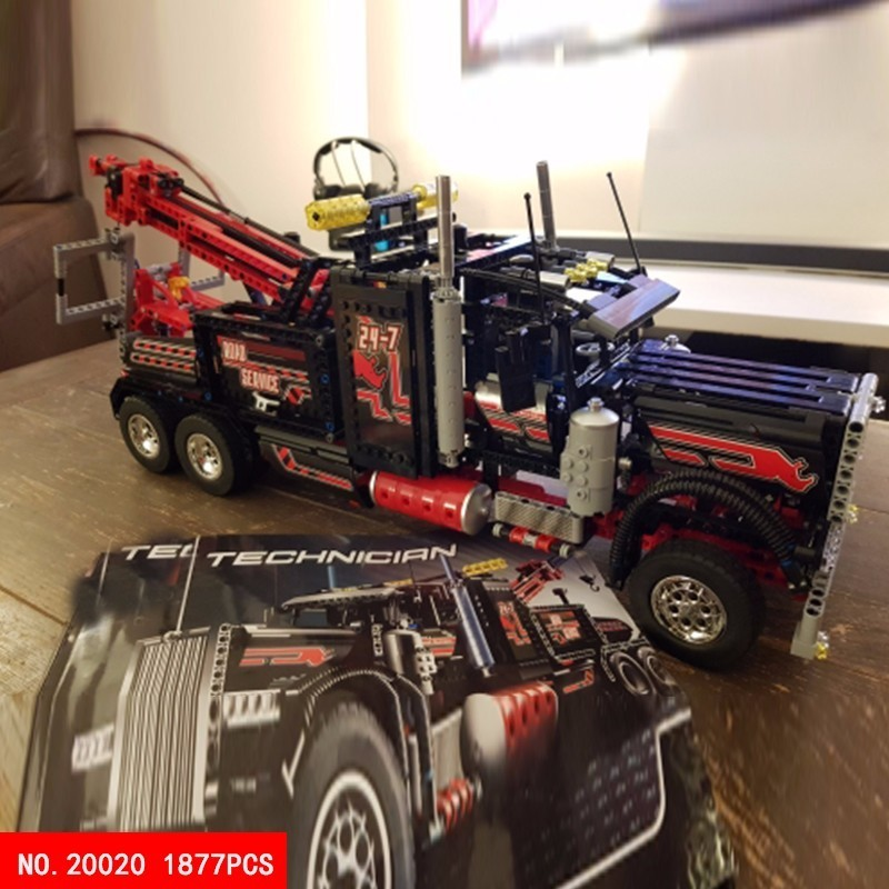 1877pcs Science And Technology Series Oxyphylla Building Children Toys 20020 System Heavy Container Truck Head Assembling1877pcs Science And Technology Series Oxyphylla Building Children Toys 20020 System Heavy Container Truck Head Assembling