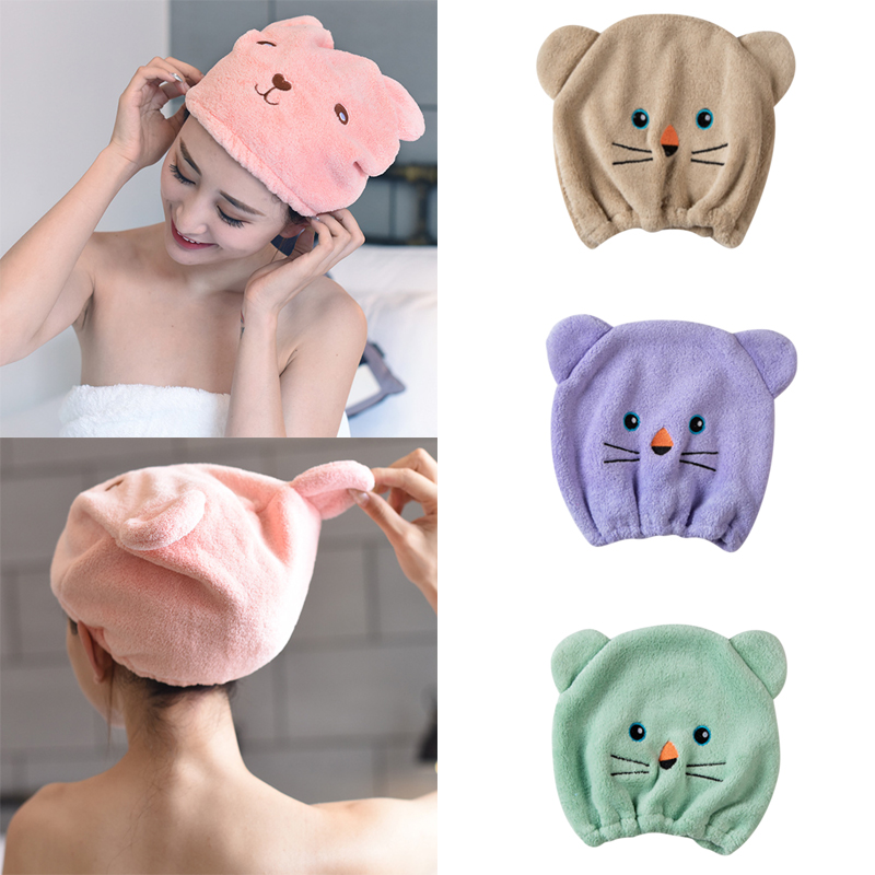 2019 NEW Good Hygroscopicity And Breathability Microfiber Hair Turban Quickly Dry Hair Hat Wrapped Towel Cap Towel