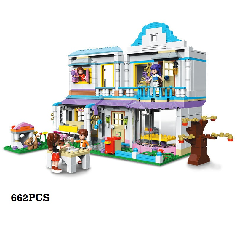 Girl House Model Building Block Intelligence-improving DIY Toys GiftsGirl House Model Building Block Intelligence-improving DIY Toys Gifts