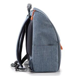Image 3 - Insular poliéster grande mamãe papai mochila fralda do bebê saco de viagem saco de armazenamento com stroller correias mudando esteira molhada