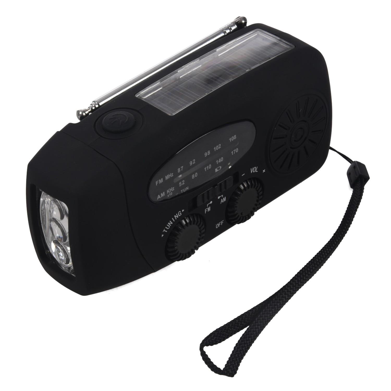 Unterhaltungselektronik Wasserdichte Tragbare Hand Crank Solar Radio Am/fm 3 Led Taschenlampe Handy-ladegerät