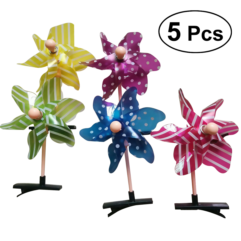 """30 BLESSING Good Girl Boutique 2 Tone 3.5/"""" Windmill Hair Bow Clip 104 No."""