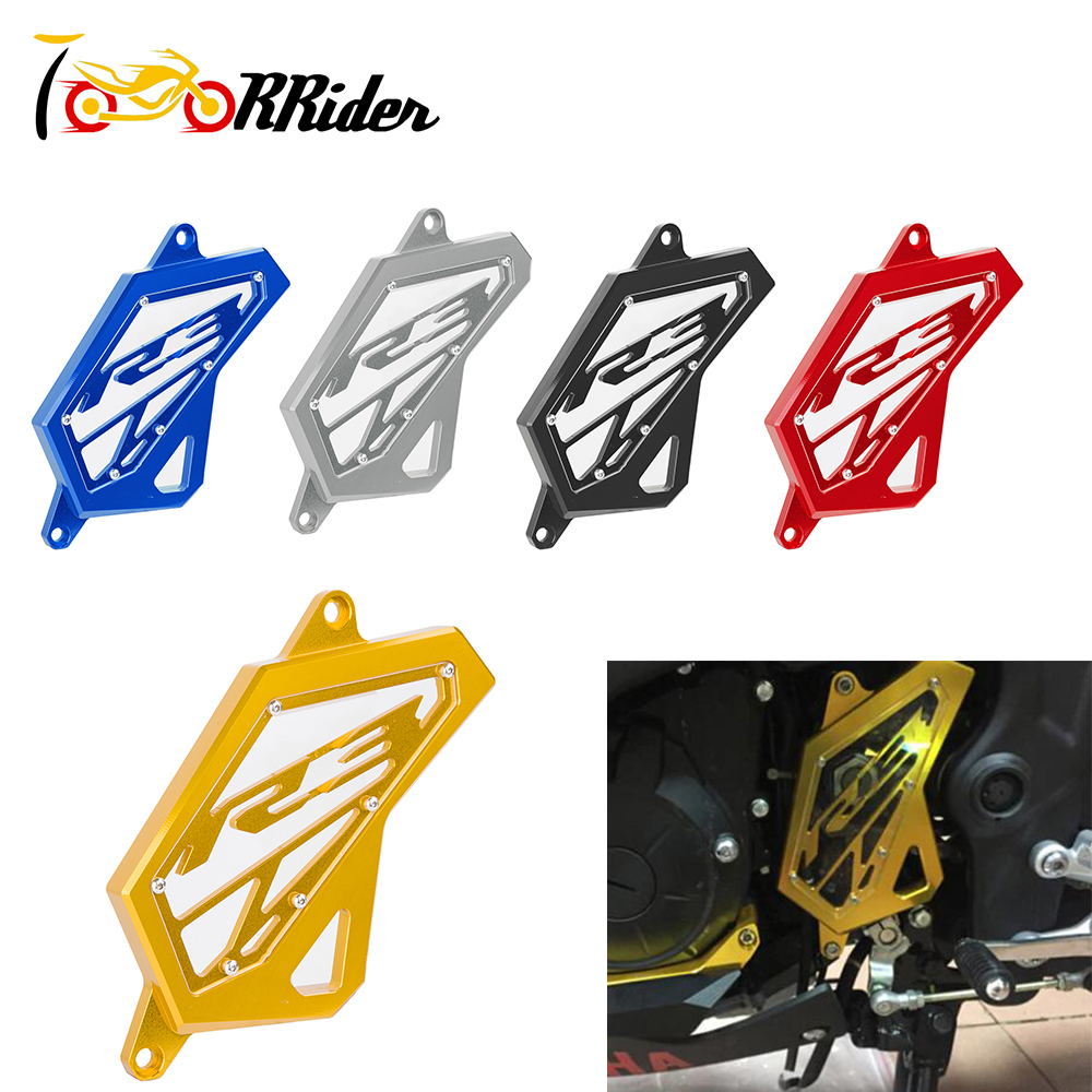 Motorcycle R25 R 25 R3 R 3 ABS CNC Aluminum Front Sprocket Chain Guard Cover for YAMAHA YZF-R3 2015-2016Motorcycle R25 R 25 R3 R 3 ABS CNC Aluminum Front Sprocket Chain Guard Cover for YAMAHA YZF-R3 2015-2016