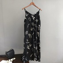 Summer 2019 Black Beach Tank Dress Women Casual Print White Slim Cami Long Dress все цены