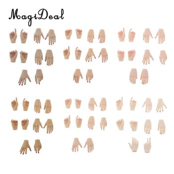 10Pcs PVC 1:6 Scale Womens Hand Models for 12 Inch Female Action Figure Body Dolls Children DIY Making Accs Toys