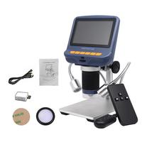 Portable LCD Digital Microscope Zoom 10X 220X Continuous Magnification With HD LED Display Screen For Phone Repair Solder Tool