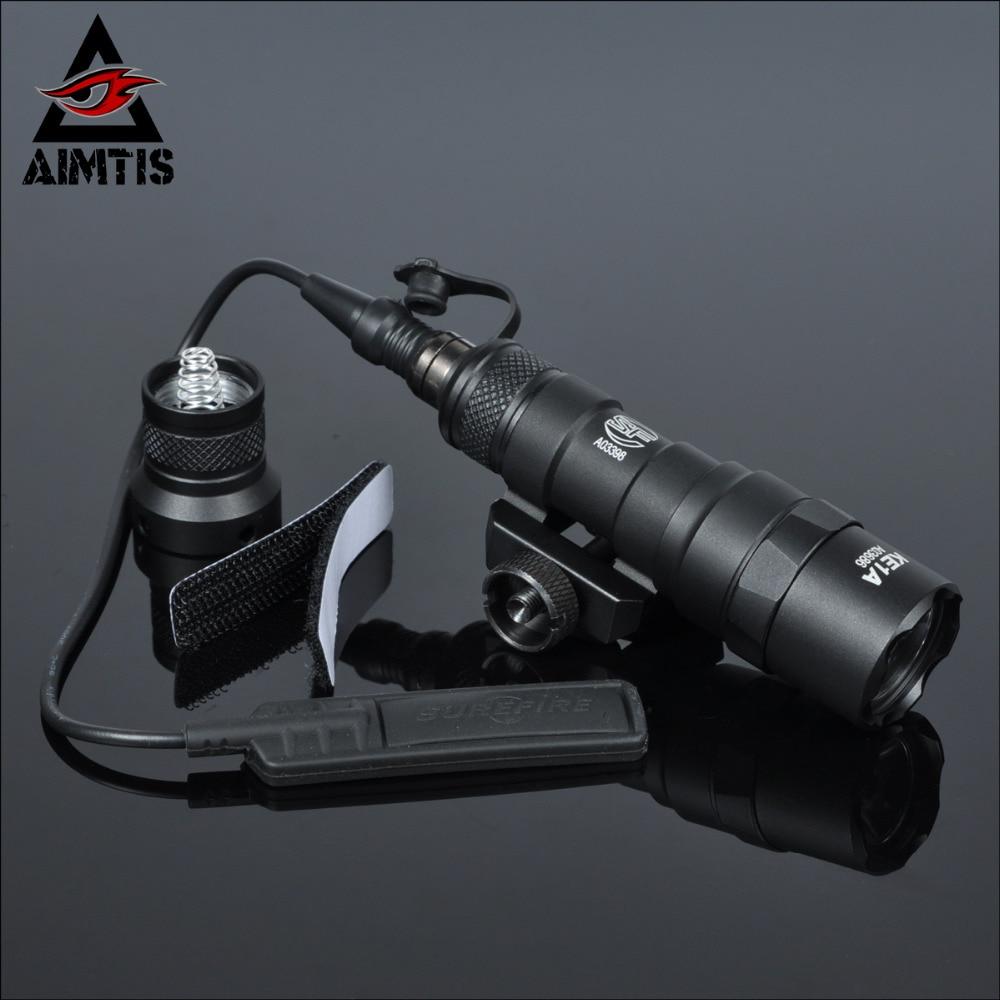 AIMTIS M300B Mini Light Scout Tactique Rail Lumière Fusil de Chasse lampe de Poche Constante/Momentanée Sortie pour 20mm Picatinny Rail