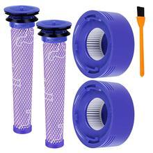 Дома-Замена 2 Pack для Dyson V8 предварительно фильтр HEPA + почтовый фильтр, совместимый Dyson V7 V8 животного абсолютное беспроводной вакуумный для