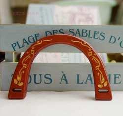19X14 см одна пара U тип резьба красный коричневый деревянный ручной работы деревянная ручка Obag деревянный кошелек ручка сумка Рамка
