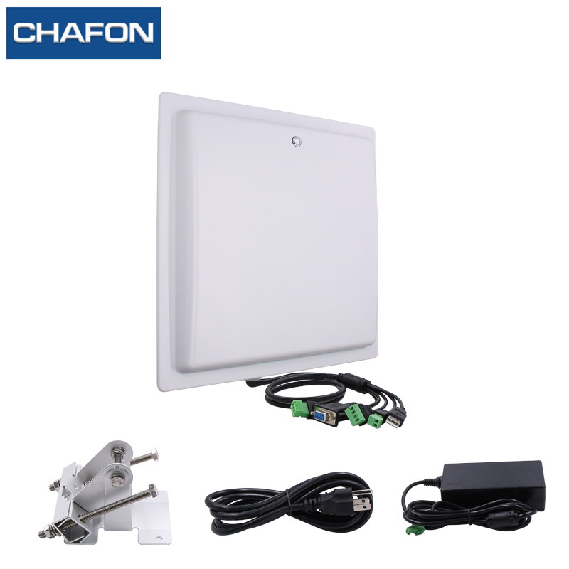 Image 4 - CHAFON 15M long range uhf rfid reader USB RS232 WG26 RELAY with built in 12dbi linear antenna free SDK for car parking-in Control Card Readers from Security & Protection