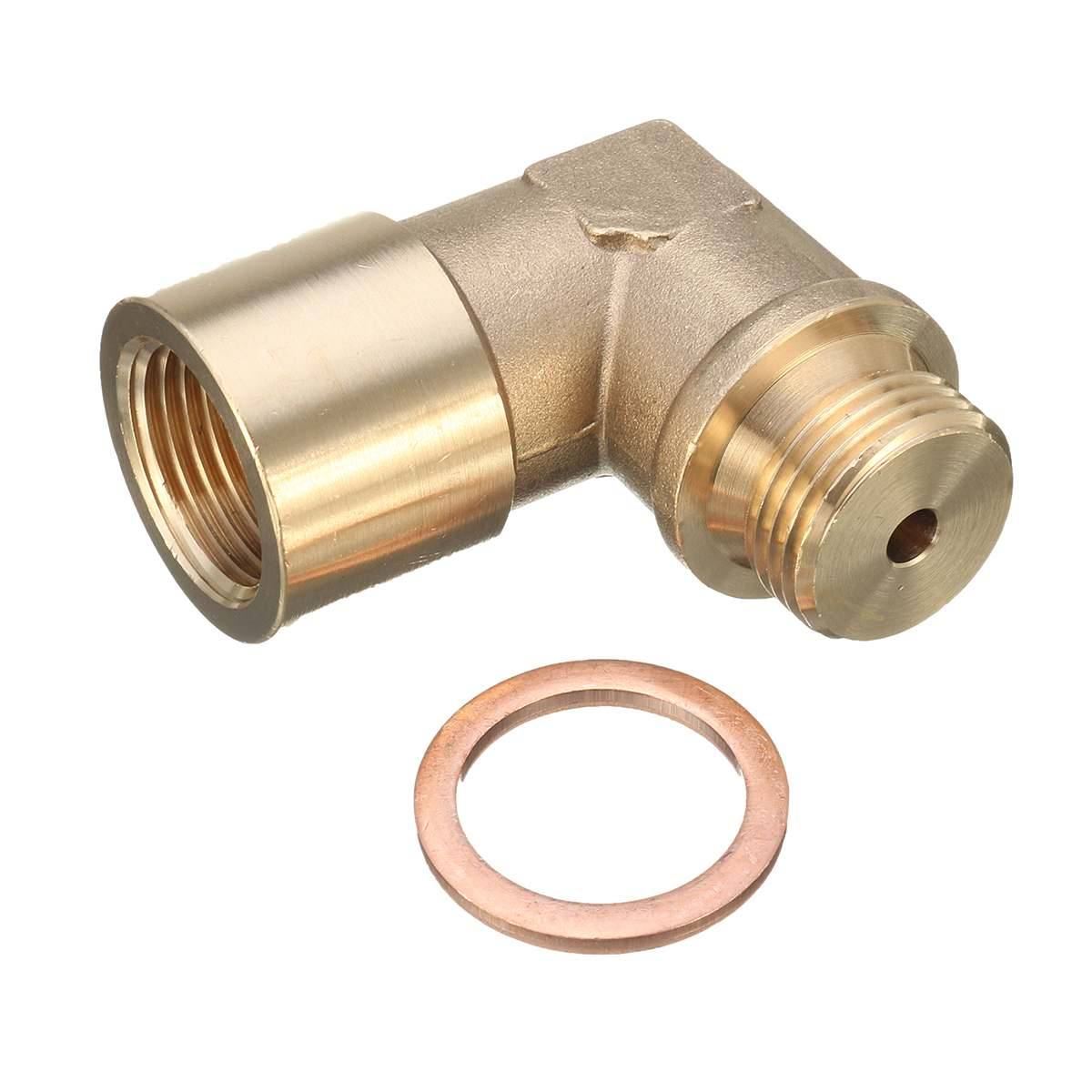 M18X1.5 O2 Angled Oxygen Sensor Lambda Extension Spacer Brass For Decat /HydrogenM18X1.5 O2 Angled Oxygen Sensor Lambda Extension Spacer Brass For Decat /Hydrogen