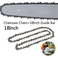 18inch 68 Drive Links Saw Chain+Guide Plate Replacement For Chainsaw 0.325 Set