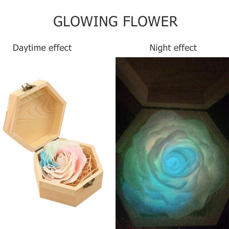 Scented Handmade Flower Soap Bath Body Rose Petal Perfumed Soap Valentine's Day Gift Glow In The Dark Rose Flower Soap