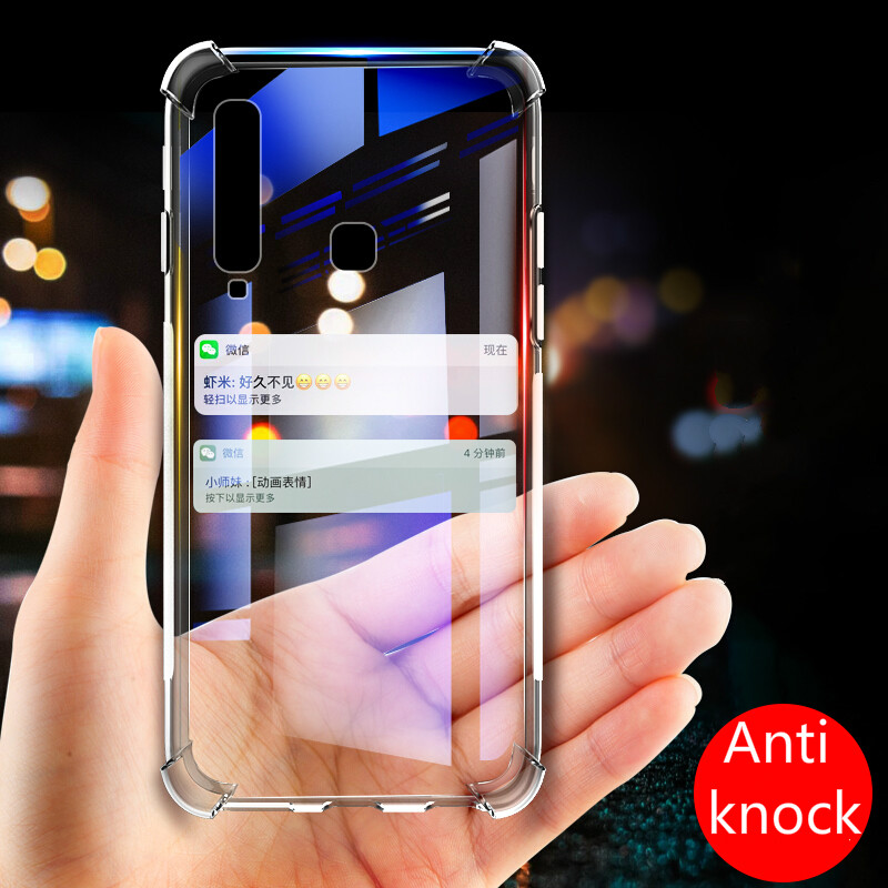 Case For Samsung Galaxy S10 Lite/Plus A6 A8 S9 S8 Note 8 9 J8 J6 J4 J7 A9S A6S 2018 A3 A5 A7 J3 J5 Anti-Knock Clear Silicon Case