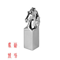 Fashion New Design Chinese Style Horse Shape Personality Seal Stamp Alloy chrome Plated Metal Stamps With Gift Box