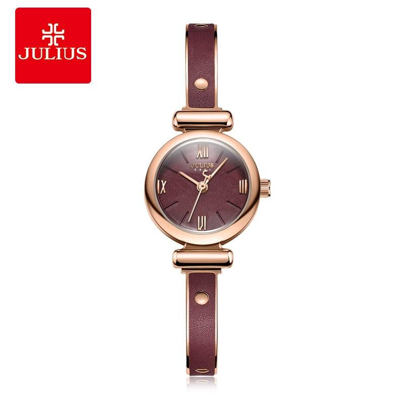 Julius Rétro Petit Cadran Dame Femmes Bracelet Montre De Mode Or Rose Dames Quartz Montres Femme Horloge Relogio Feminino