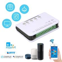 Ewelink inteligente interruptor de controle remoto sem fio módulo universal 4ch dc 5 v wifi interruptor temporizador telefone app controle remoto
