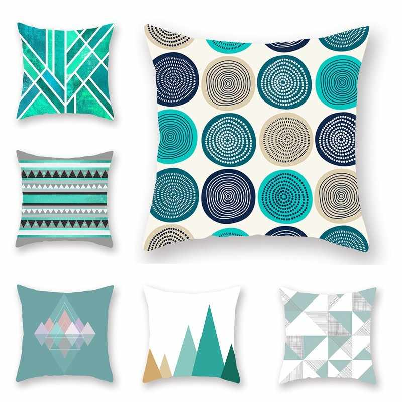 Classic Geometry Pattern Sofa Cushion Cover Living Room Office Sofa Casual Waist Pillow Case Home Bedroom Decor Cushion Case