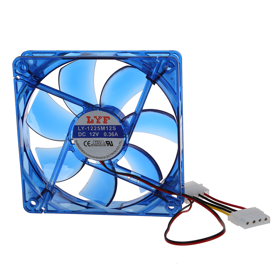 PPYY NEW -DC 12V 4-Pin 4 Blue LED <font><b>PC</b></font> Computer Enclosure <font><b>Fan</b></font> <font><b>120</b></font> x 25 <font><b>mm</b></font> image