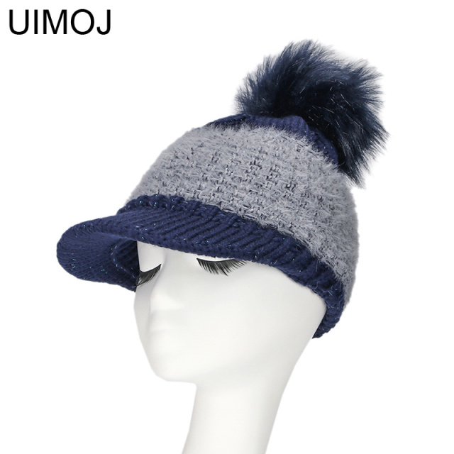 Winter Knitted PomPom Warm Caps Skullies Beanies