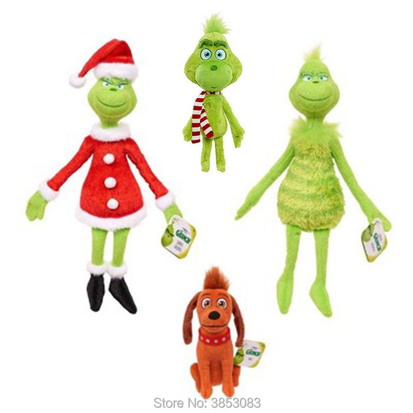 Toy Animal-Doll Stuffed The Grinch Plush Christmas-Gift 18-38cm Who For Kids Stole Collectible