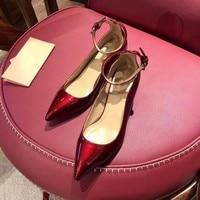 2019 туфли на высоком каблуке с острым носком, модные разноцветные женские туфли, туфли для торжеств, роскошные дизайнерские лакированные туф