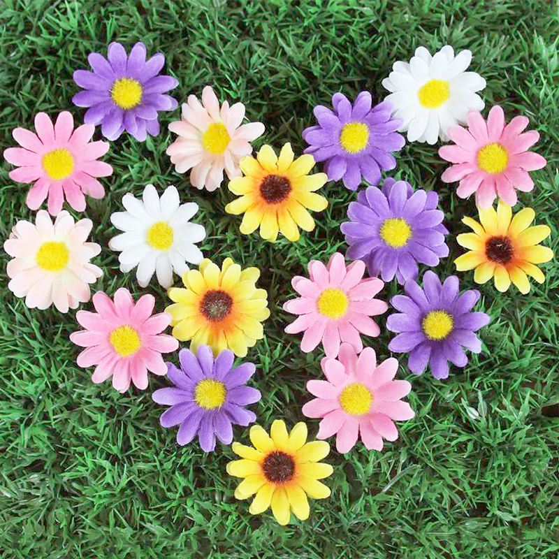 Flower Artificial   Flowers Head Festival Wedding  Home Decoration  Daisy Flowers  Fashion Sun Flowers  Accessorries Handmade-in Artificial & Dried Flowers from Home & Garden on Aliexpress.com | Alibaba Group
