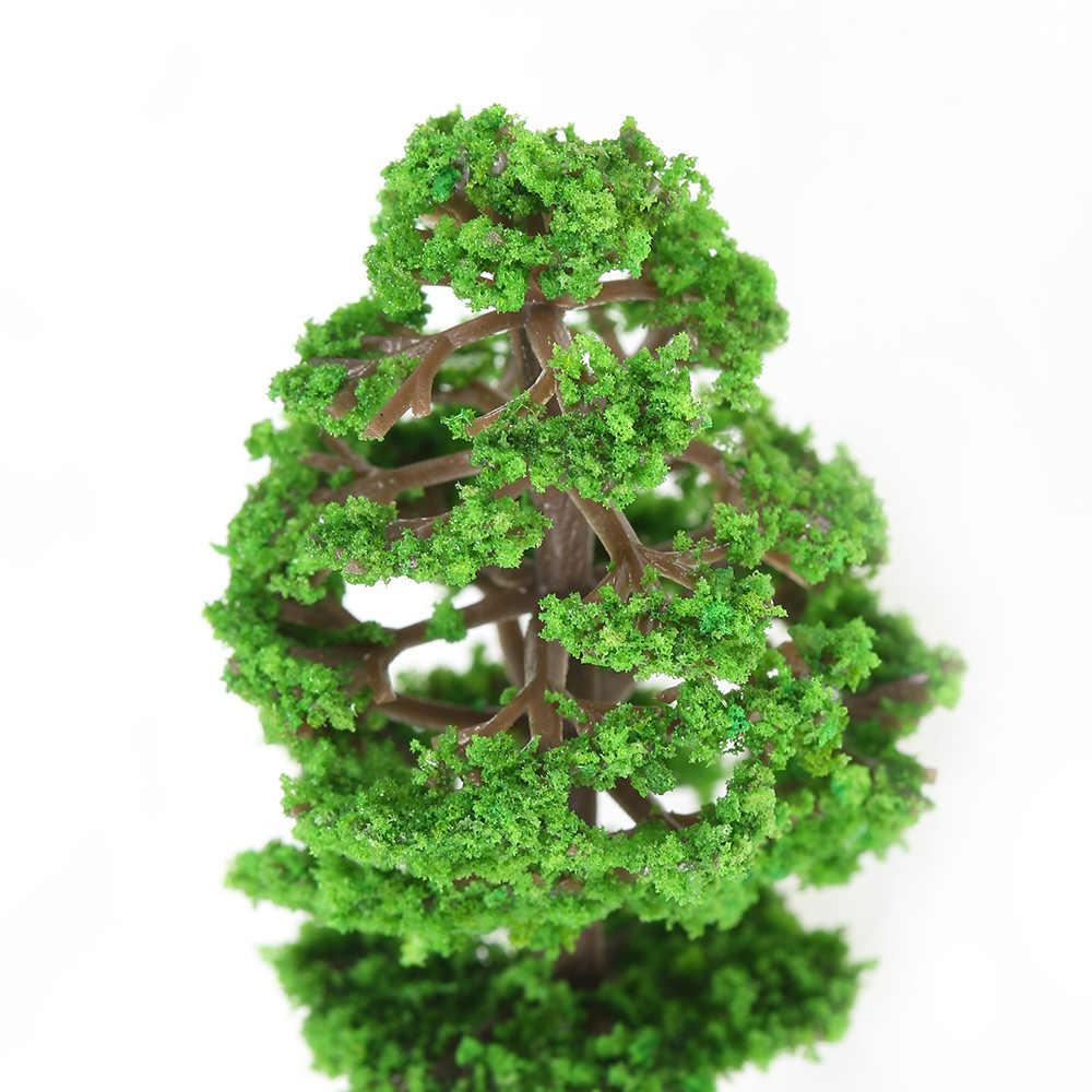 60 шт. хо масштаб пластиковый миниатюрный Модель деревья для строительных поездов макет железной дороги декоративный пейзаж аксессуары игрушки для детей