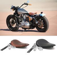 Motorcycle Cushion For Harley Cushion Chopper Bobber Leather Saddle Seat Retro Crocodile Leather Solo Seat Spring Bracket